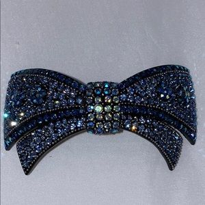 Large crystal bow hair clip.  New.